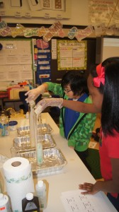 kids adding yeast